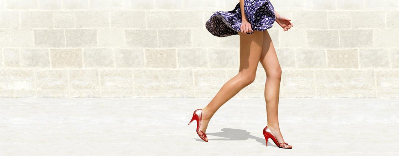 Mit großen Schritten // zu schönen Beinen! | Big steps // to beautiful legs!